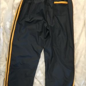 adidas Pants - Men's Adidas pants XL gray  gold 3-stripe